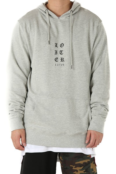 Loiter NYC Preacher Hoodie Light Grey