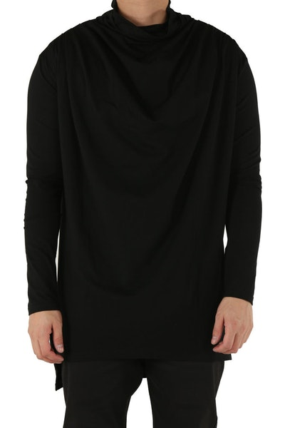 Emperor Apparel Cowl Neck L/S Tee Black