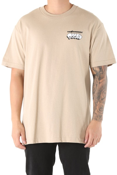 The Hundreds Doom Mask Short Sleeve Tee Sand