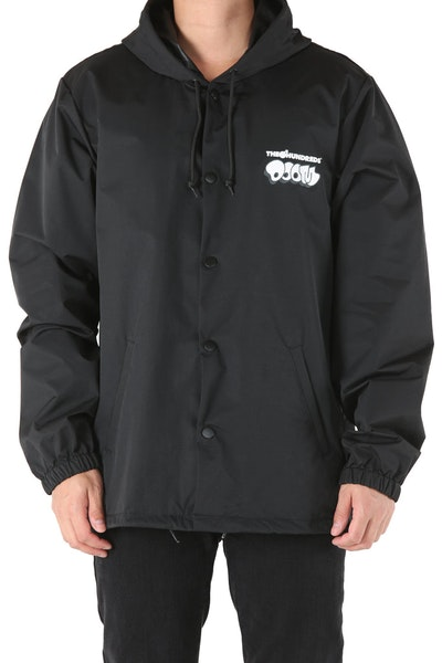 The Hundreds x MF Doom Mask Hooded Coaches Jacket Black