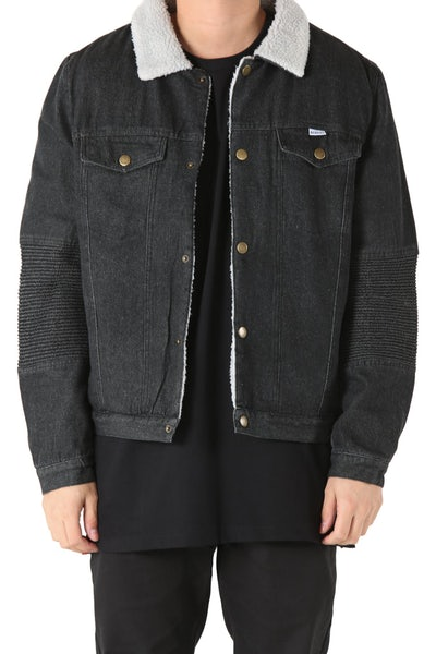 Kloude Clothing Shabba Sherpa Jacket Black