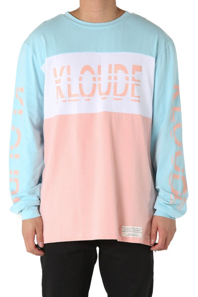 Kloude Clothing Xavier L/S Tee Blue/Pink