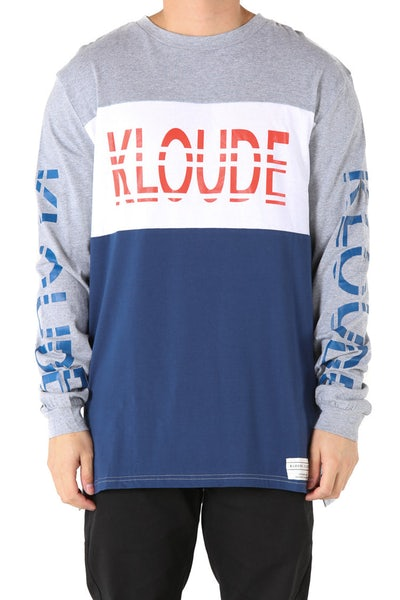 Kloude Clothing Xavier L/S Tee Red/White/Navy