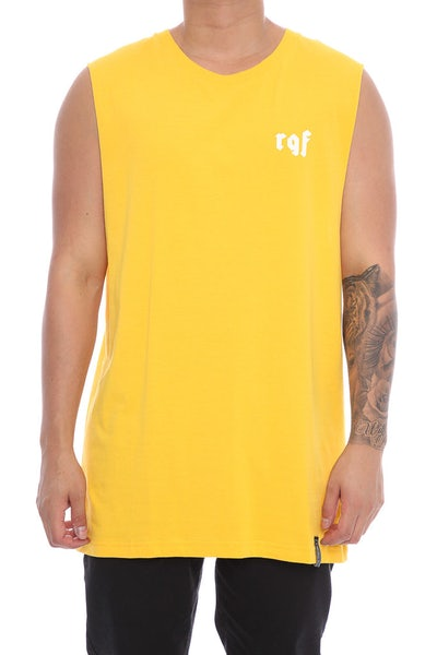 Rats Get Fat Christ Muscle Tee Yellow