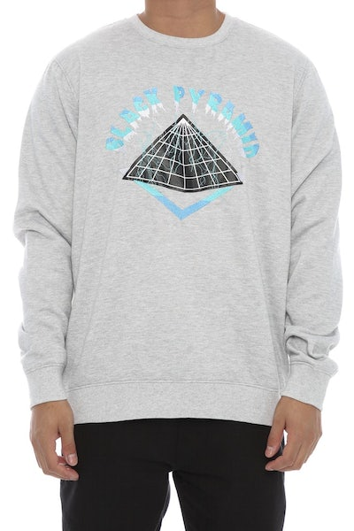 Black Pyramid Lightning Crewneck Heather Grey