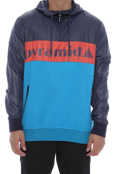 Black Pyramid Tricolour Pullover Blue