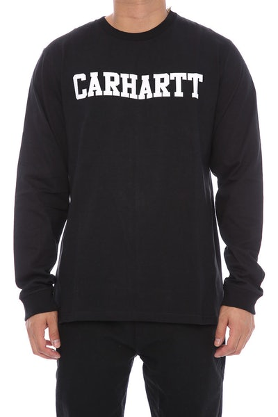 Carhartt College Front Long Sleeve Tee Black/White