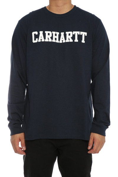 Carhartt College Front Long Sleeve Tee Navy/White