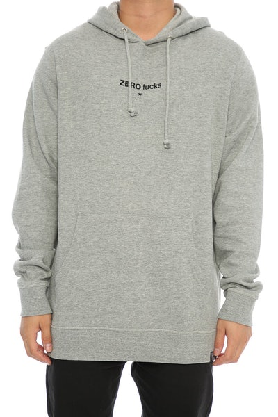 Goat Crew Zero Fucks Embroidered Hood Grey