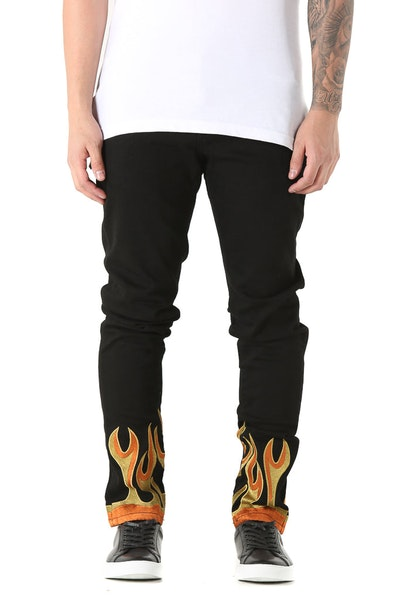 Embellish Flame Jean Black