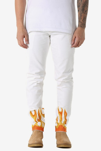 Embellish Flame Jean White