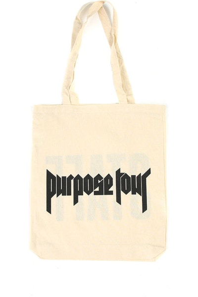 Justin Bieber Purpose Work Tour Staff Tote Bag Natural