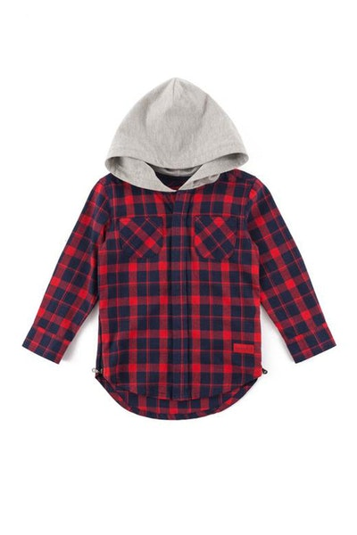 Haus Of JR George Flannel Hood Red