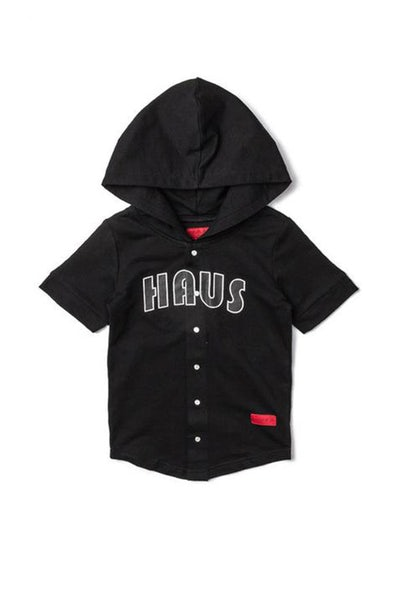 Haus Of JR Bart Baseball Hoodie Hybrid Black