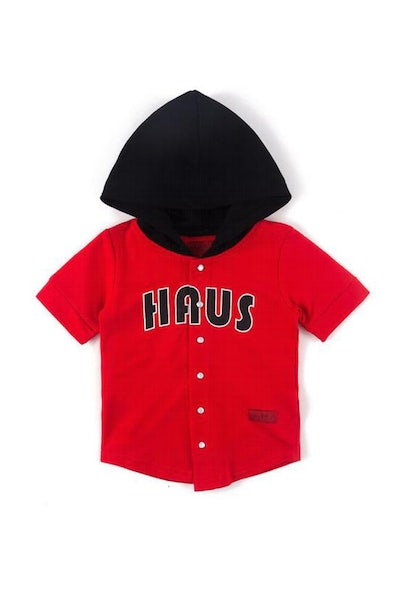 Haus Of JR Bart Baseball Hoodie Hybrid Red