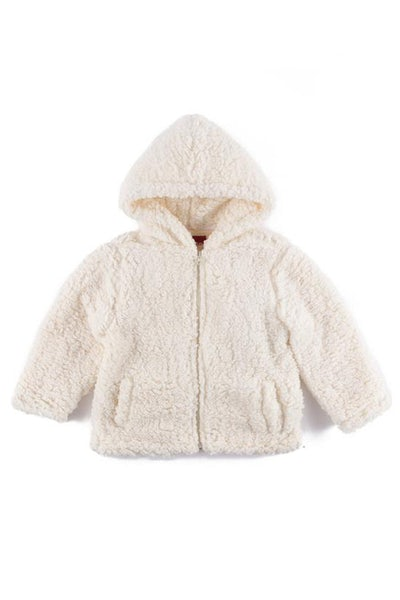 Haus Of JR Brock Sherpa Poncho White