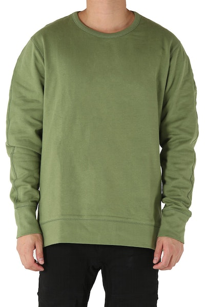 Well Made Crew Neck Sweater Army Green