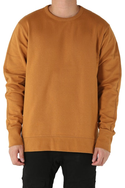 Well Made Crew Neck Sweater Camel