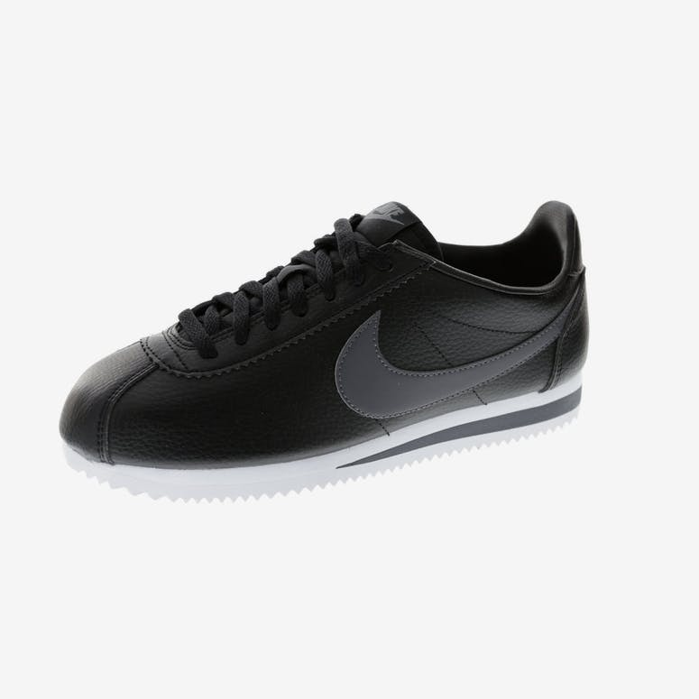 38124a0555d1d Nike Classic Cortez Leather Black White Dark Grey
