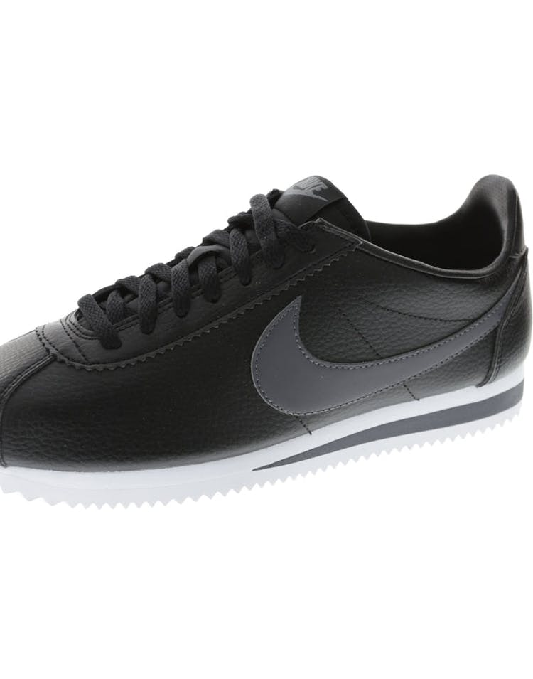 the latest 1b5d6 140ee Nike Classic Cortez Leather Black White Dark Grey   749571 011 – Culture  Kings