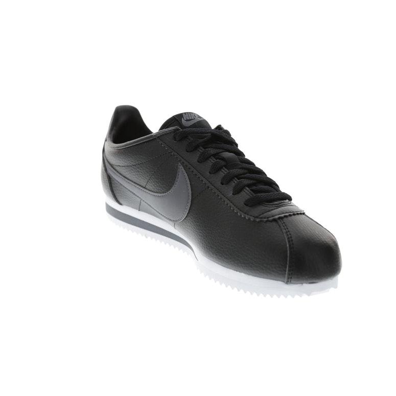 Nike Classic Cortez Leather Black White Dark Grey