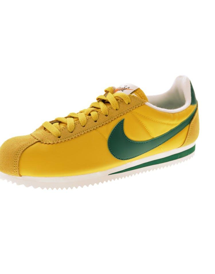new concept 5529d 56417 Nike Classic Cortez Nylon Premium Yellow Green White   876873 700 – Culture  Kings
