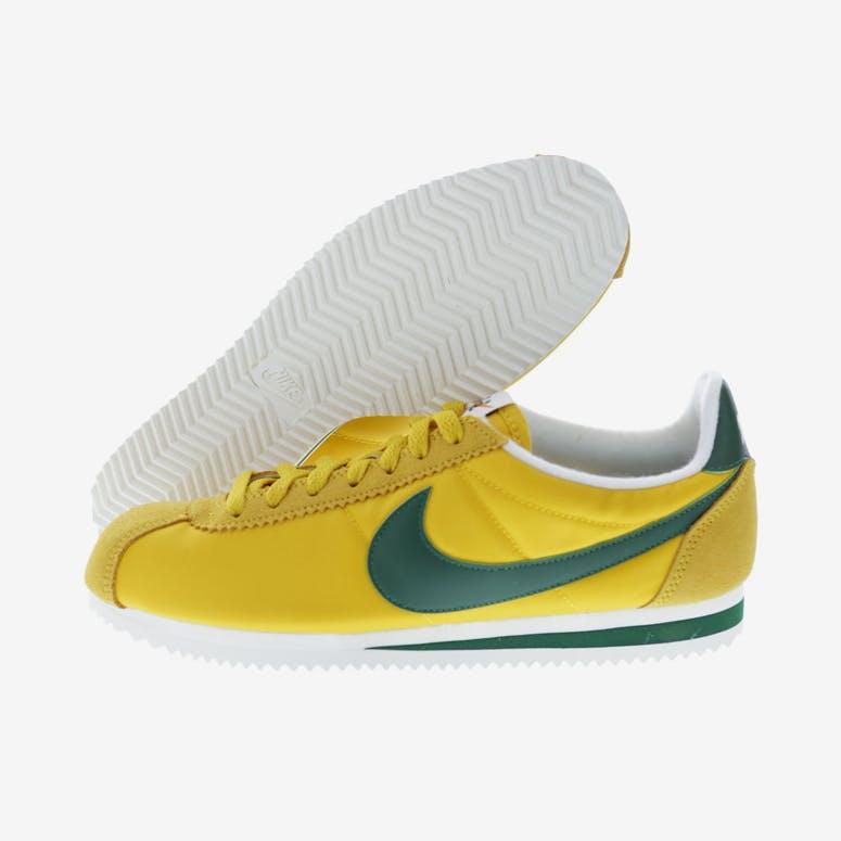 cheap for discount 3c272 e3852 Nike Classic Cortez Nylon Premium Yellow Green White