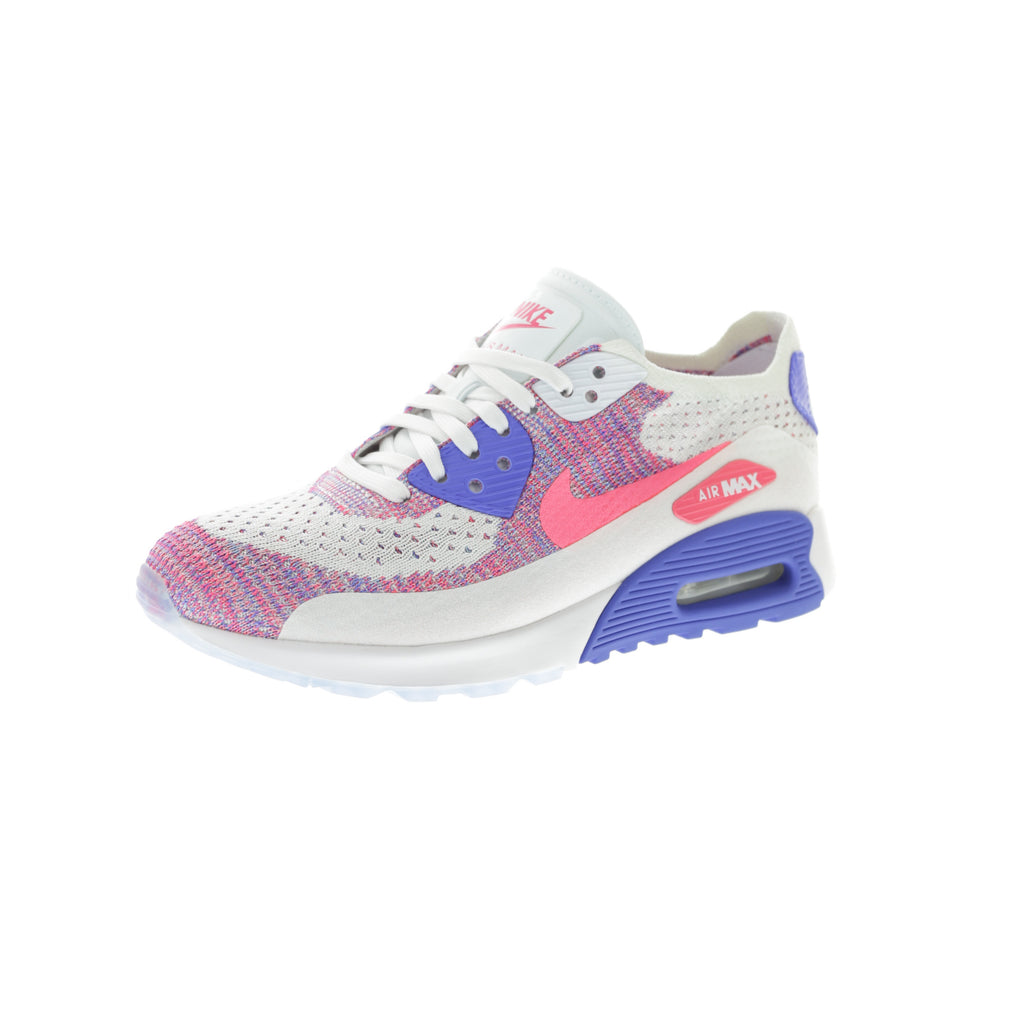 3810dcb4924cc ... spain nike womens air max 90 flyknit ultra 2.0 white pink blue ec194  62de2
