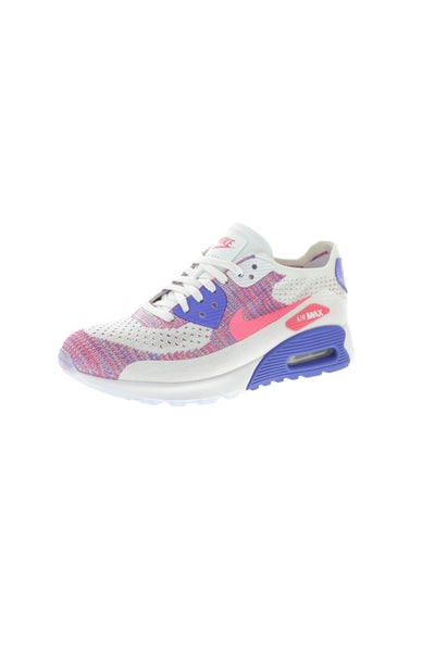 Nike Women's Air Max 90 Flyknit Ultra 2.0 White/Pink/Blue