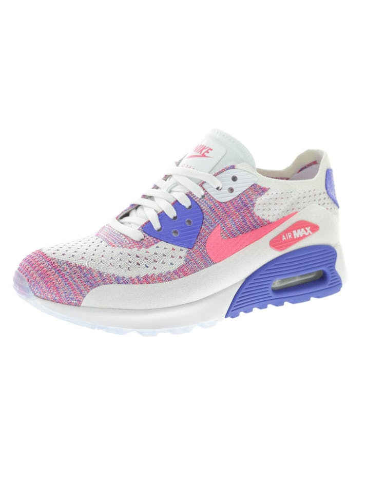 5db8698e68 Nike Women's Air Max 90 Flyknit Ultra 2.0 White/Pink/Blue | 881109 103 –  Culture Kings