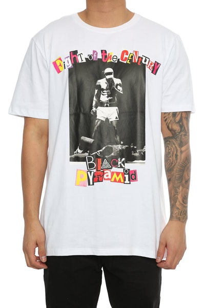 Black Pyramid Fight Of The Century Tee White