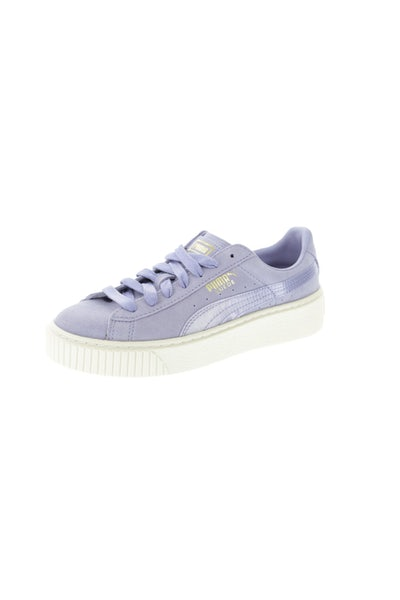 Puma Women's Suede Platform Satin Purple/Off White