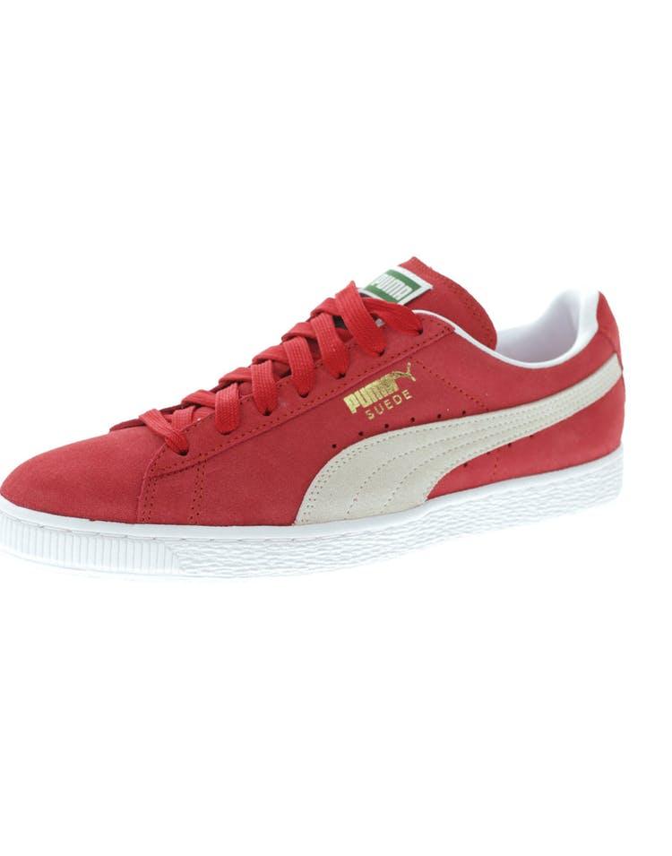 newest 060ca d54a0 Puma Suede Classic + Red/White