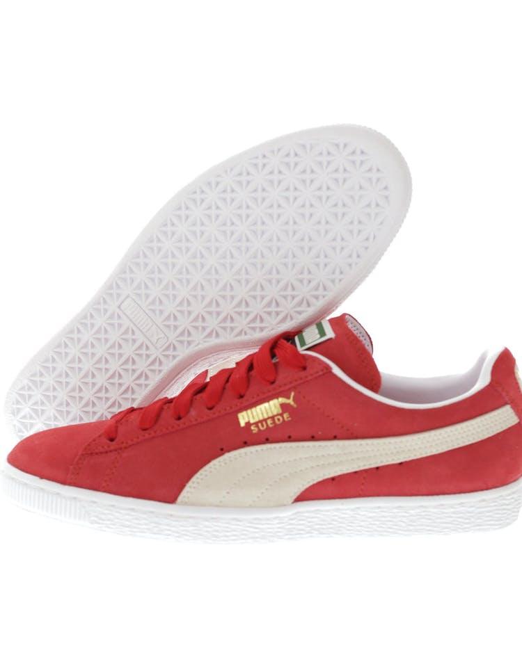 newest 07ebc 58b4f Puma Suede Classic + Red/White