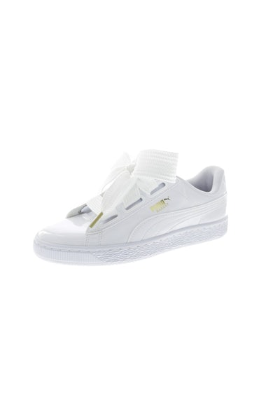 Puma Women's Basket Heart Patent White/White