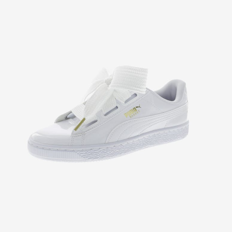 d090f5ce2a93f3 Puma Women s Basket Heart Patent White White – Culture Kings