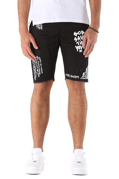 Civil Regime Lost Youth Chino Shorts Black