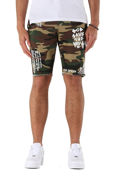 Civil Regime Lost Youth Chino Shorts Camo