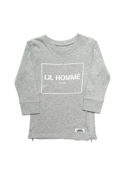 Lil Homme Lil Section Capone L/S Tee Grey Marle