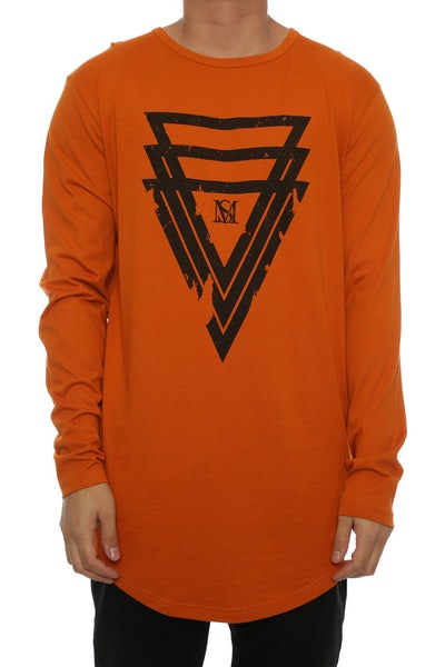 Saint Morta Bipartisan LS El Duplo 2 Tee Mud Orange
