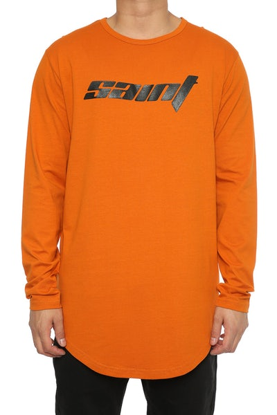 Saint Morta Bassick LS El Duplo 2 Tee Mud Orange
