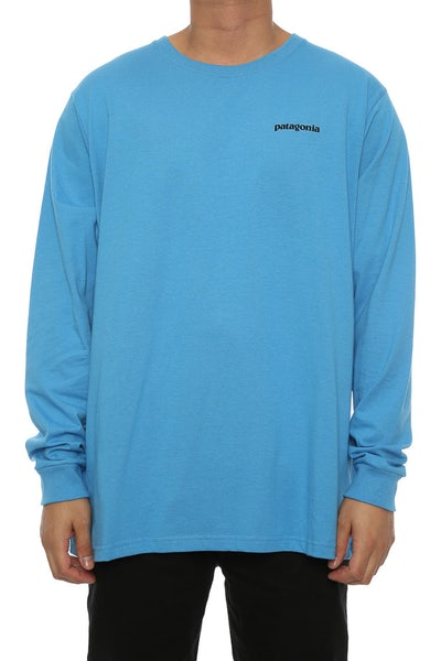 Patagonia P6 logo Long Sleeve Blue