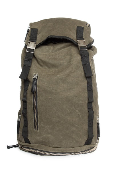 Opal Ruckers Canvas Backpack Olive