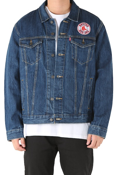Levi Strauss And Co Boston Red Sox Denim Jacket Blue