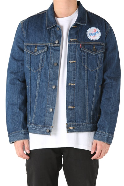 Levi Strauss And Co Los Angeles Dodgers Denim Jacket Blue