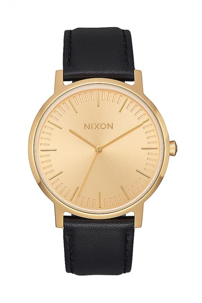 Nixon Porter Leather Gold/Black