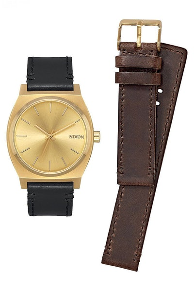Nixon Time Teller Pack 37 MM Gold/Black/Brown