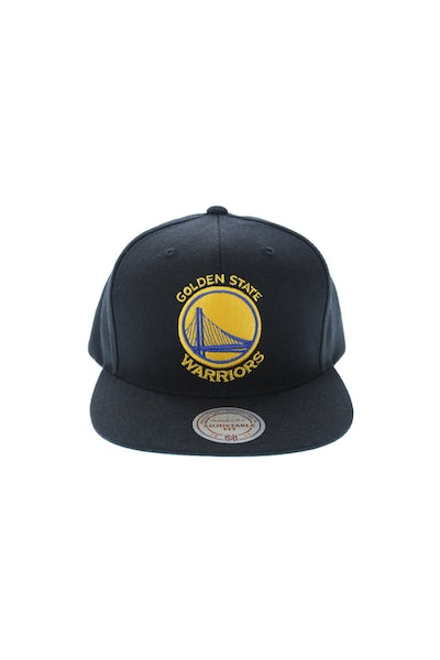 Mitchell & Ness Warriors Wool Solid Snapback Black