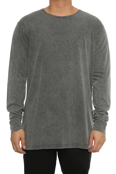 Silent Theory Acid Long Sleeve Tee Charcoal
