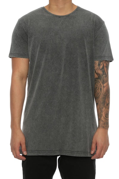 Silent Theory Acid Tall Tee Charcoal